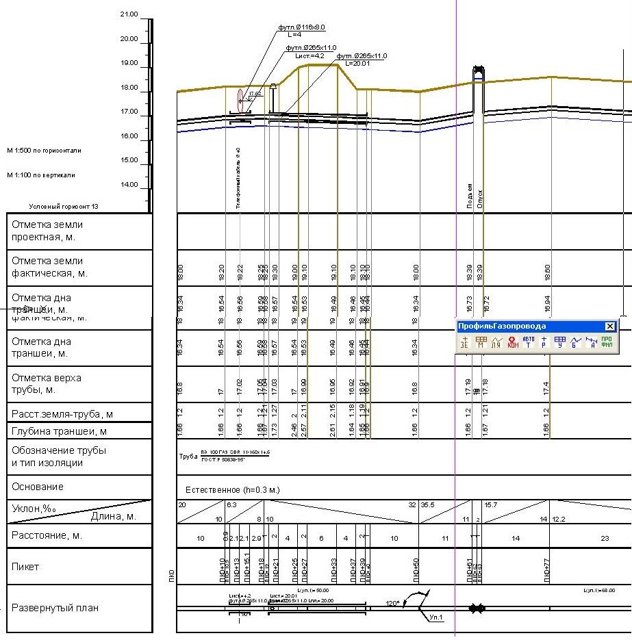 Продольный профиль газопровода скачать программу
